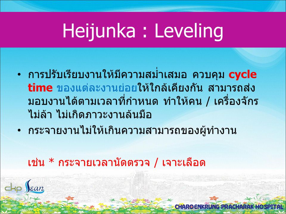 Heijunka : Leveling