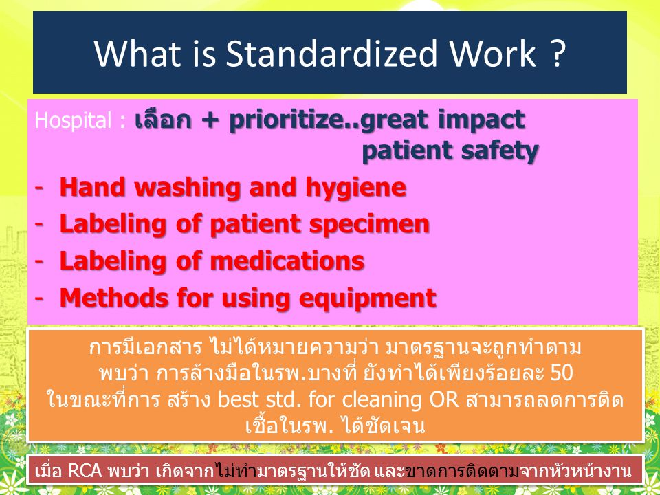 What is Standardized Work