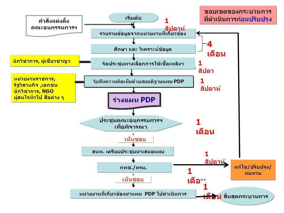 4 เดือน 1 เดือน 1 เดือน 1 เดือน ร่างแผน PDP