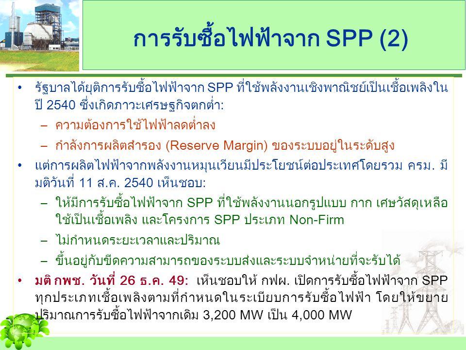 การรับซื้อไฟฟ้าจาก SPP (2)