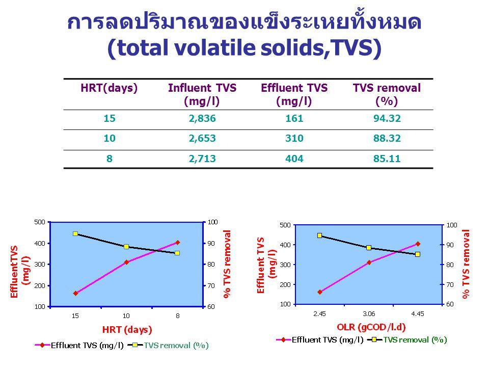 การลดปริมาณของแข็งระเหยทั้งหมด (total volatile solids,TVS)