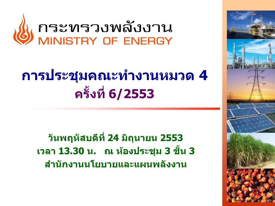 การประชุมคณะทำงานหมวด 4 ครั้งที่ 6/2553