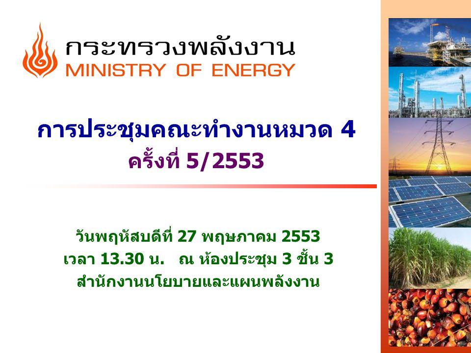การประชุมคณะทำงานหมวด 4 ครั้งที่ 5/2553