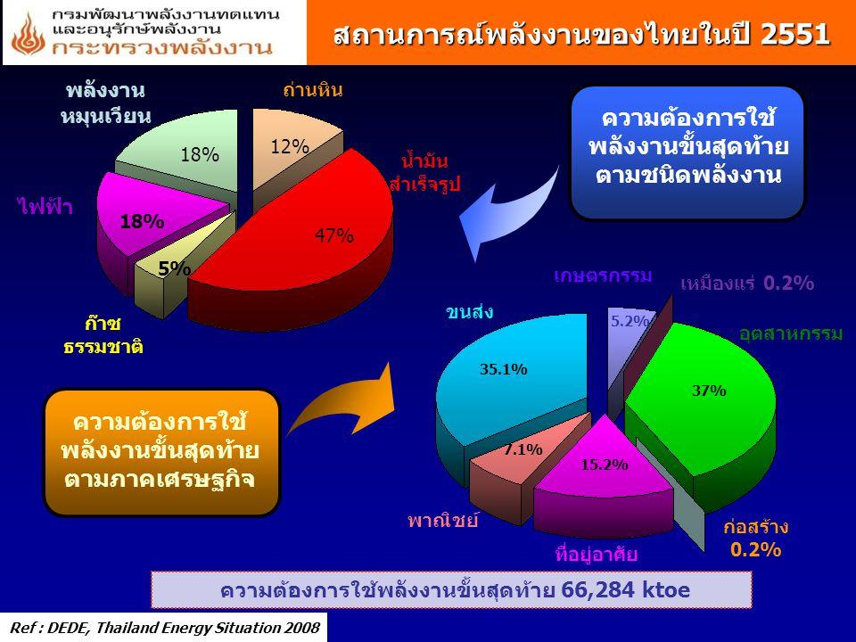 สถานการณ์พลังงานของไทยในปี 2551