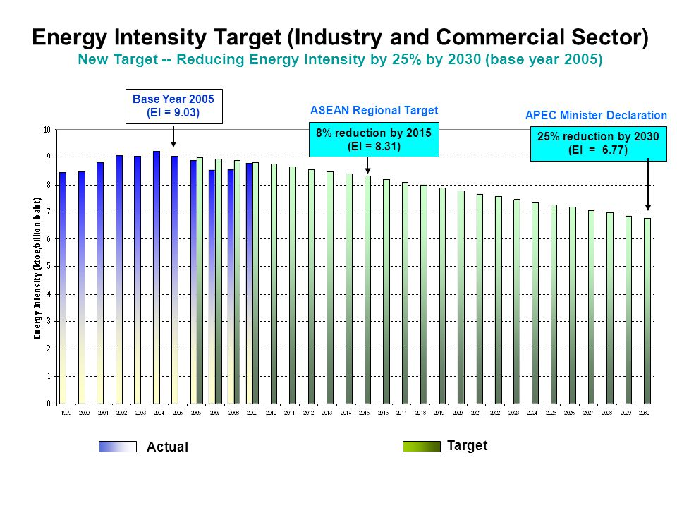 Energy Intensity Target (Industry and Commercial Sector)