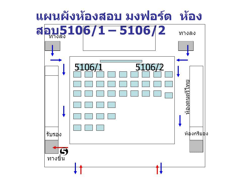 แผนผังห้องสอบ มงฟอร์ต ห้องสอบ5106/1 – 5106/2