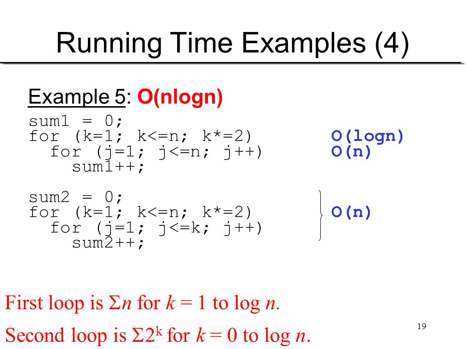 Running Time Examples (4)