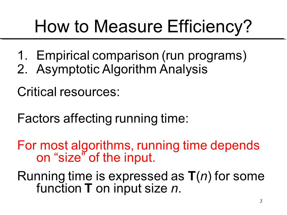 How to Measure Efficiency