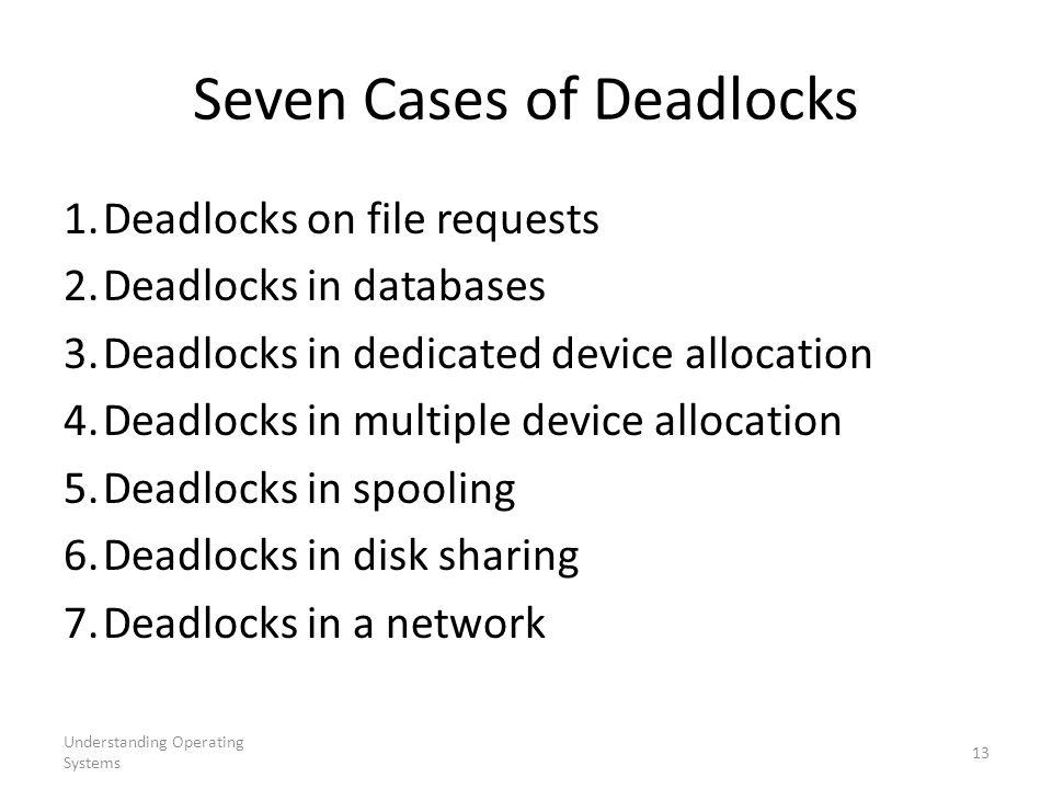 Seven Cases of Deadlocks