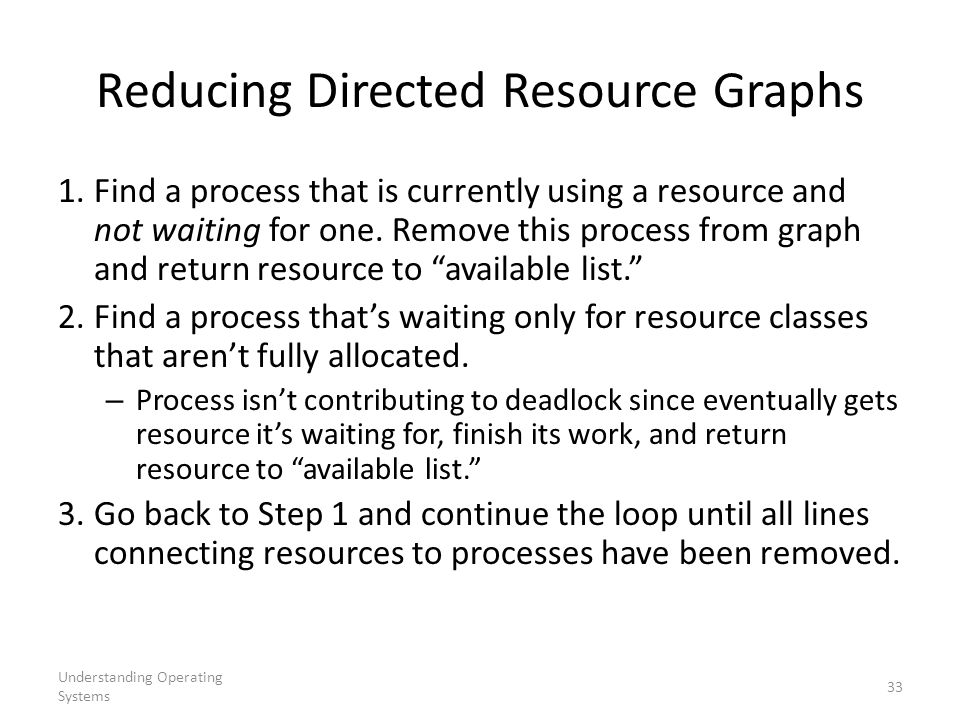 Reducing Directed Resource Graphs