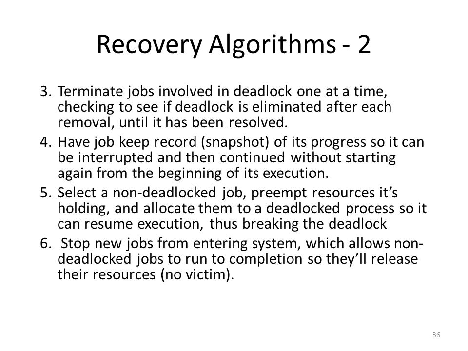 Recovery Algorithms - 2