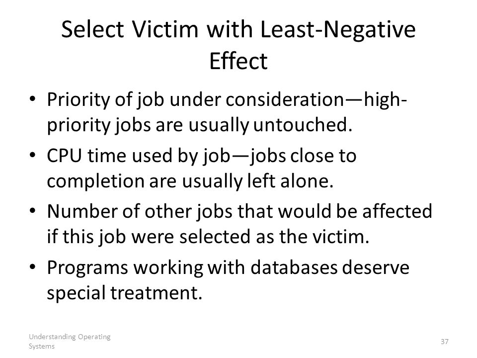 Select Victim with Least-Negative Effect