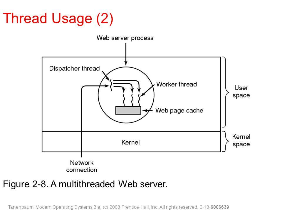 Thread Usage (2) Figure 2-8. A multithreaded Web server.