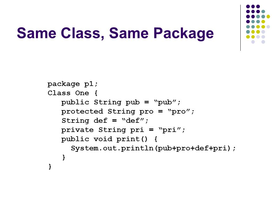 Same Class, Same Package