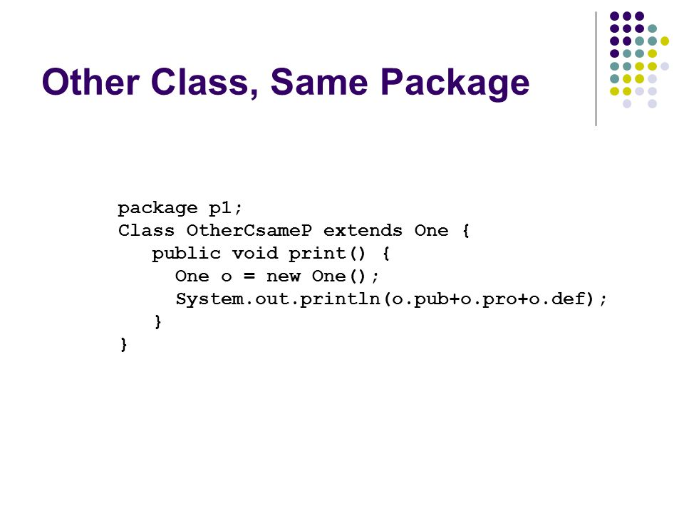 Other Class, Same Package