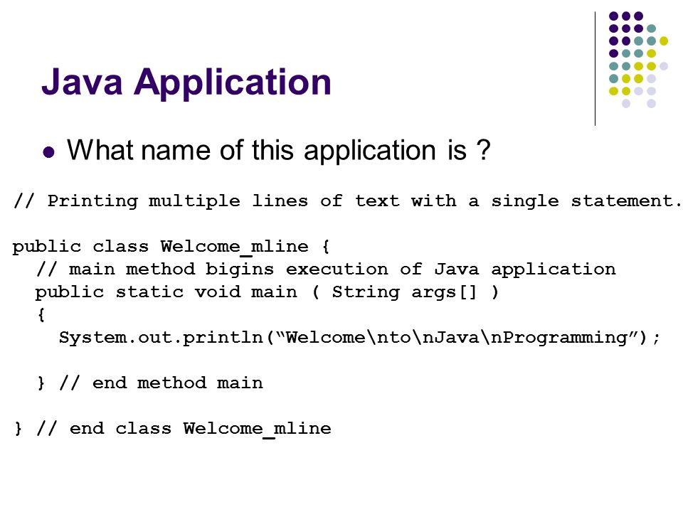 Java Application What name of this application is
