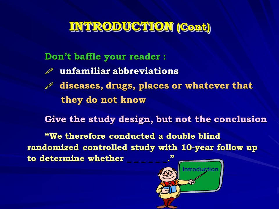 INTRODUCTION (Cont) unfamiliar abbreviations