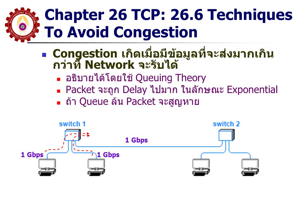 Chapter 26 TCP: 26.6 Techniques To Avoid Congestion