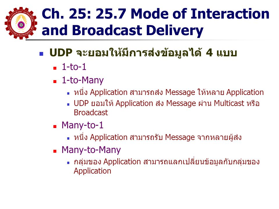Ch. 25: 25.7 Mode of Interaction and Broadcast Delivery