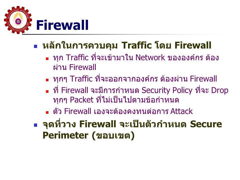 Firewall หลักในการควบคุม Traffic โดย Firewall