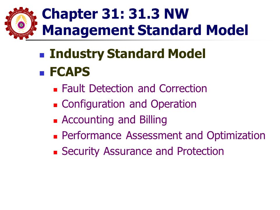 Chapter 31: 31.3 NW Management Standard Model