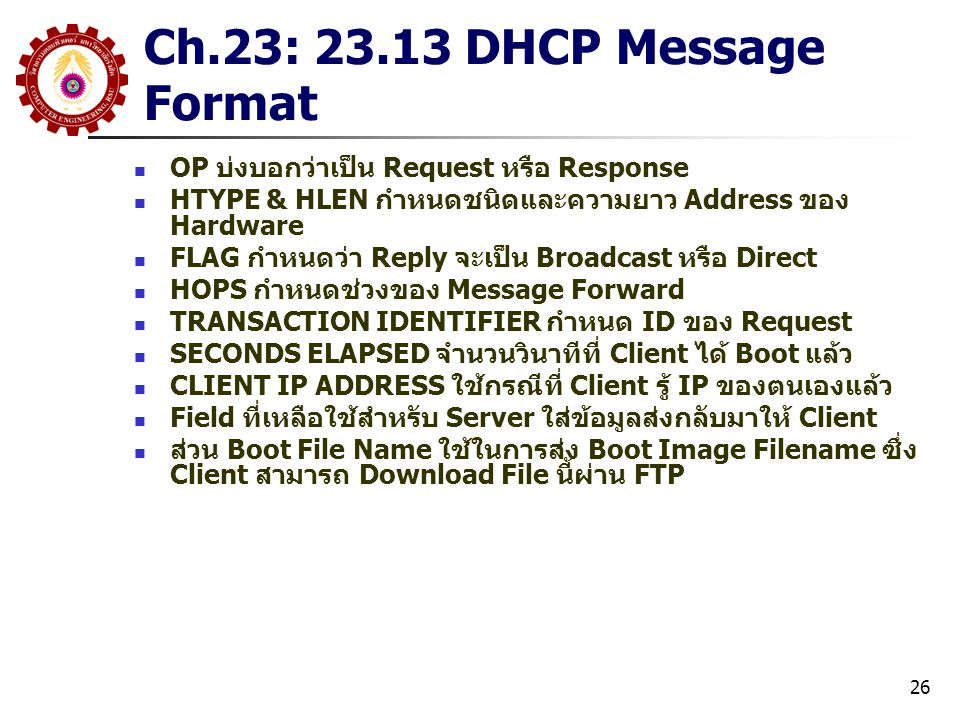 Ch.23: 23.13 DHCP Message Format