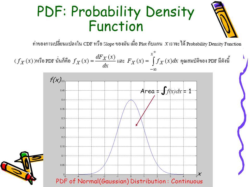 PDF: Probability Density Function