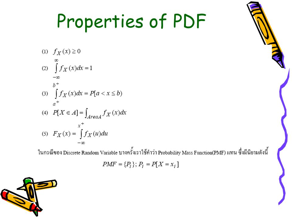 Properties of PDF