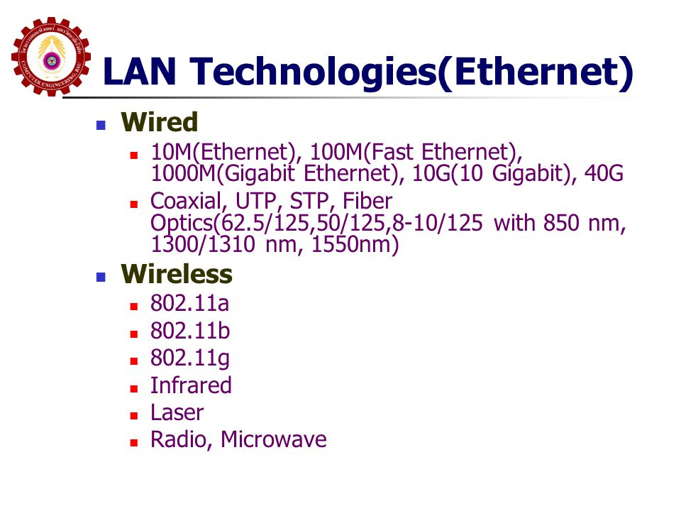 LAN Technologies(Ethernet)