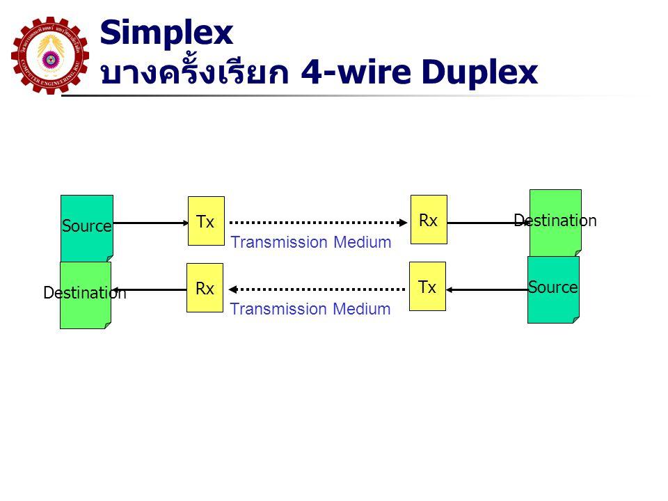 Simplex บางครั้งเรียก 4-wire Duplex