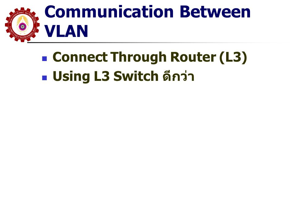 Communication Between VLAN