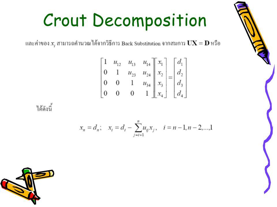 Crout Decomposition