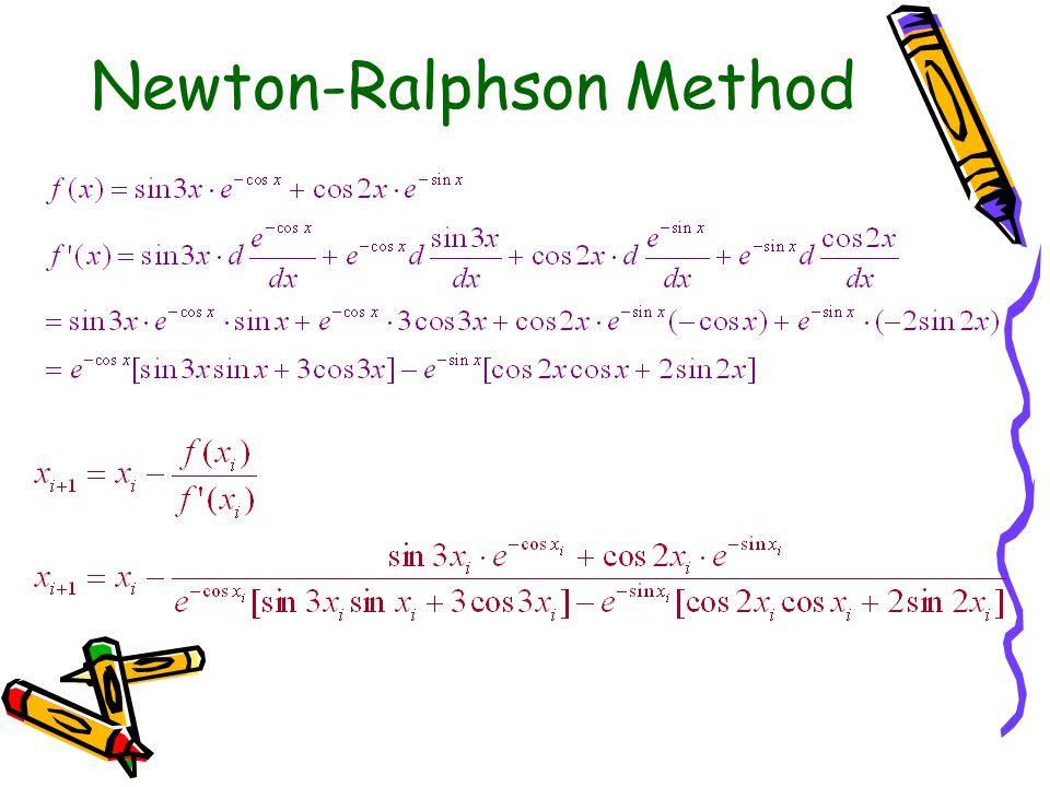 Newton-Ralphson Method