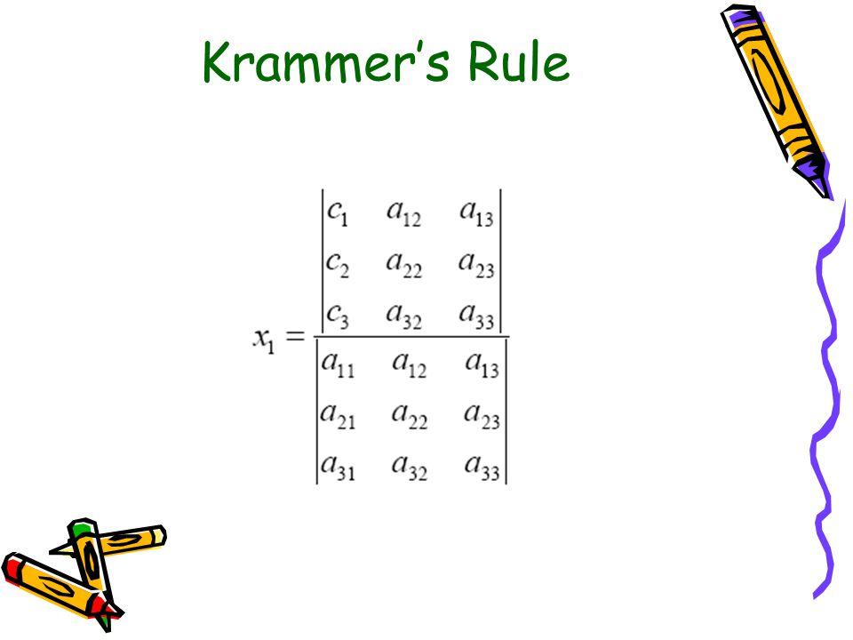 Krammer's Rule