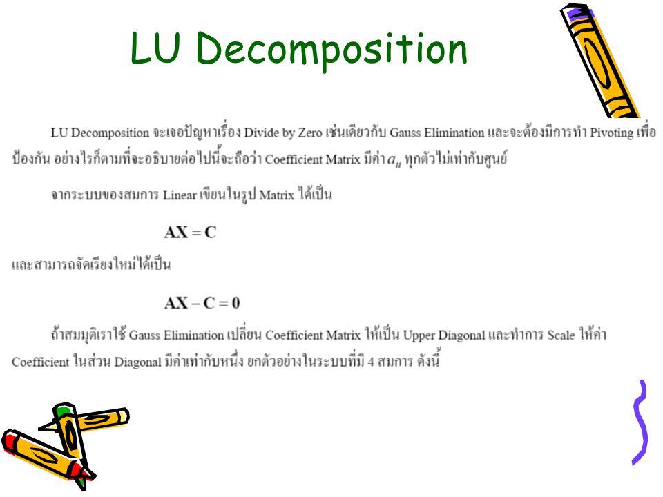 LU Decomposition