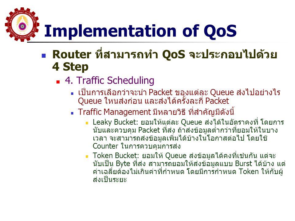 Implementation of QoS Router ที่สามารถทำ QoS จะประกอบไปด้วย 4 Step