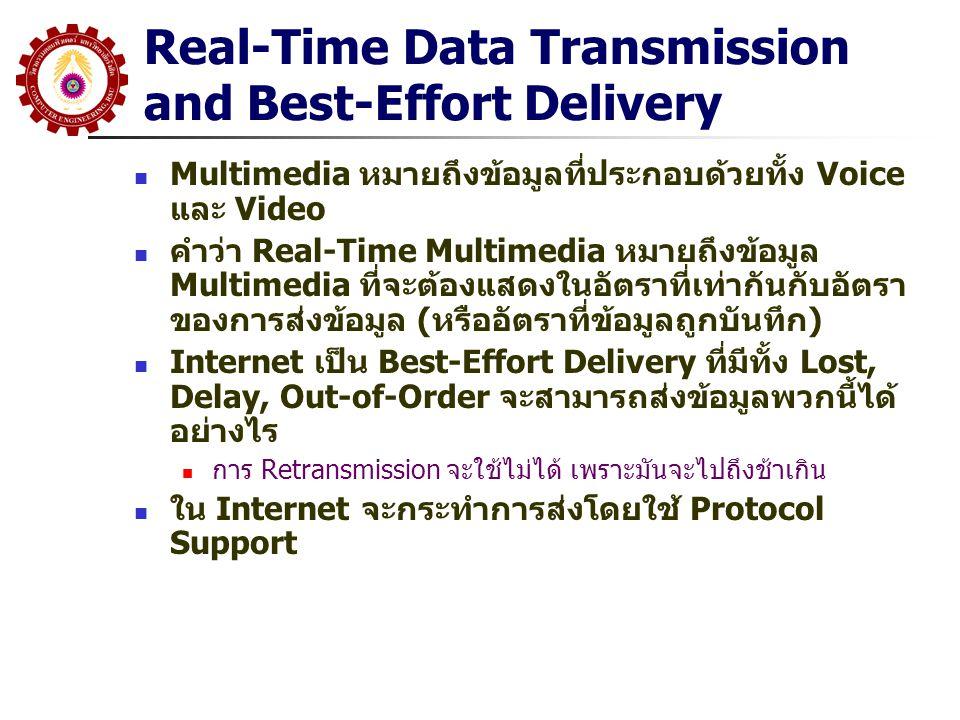 Real-Time Data Transmission and Best-Effort Delivery