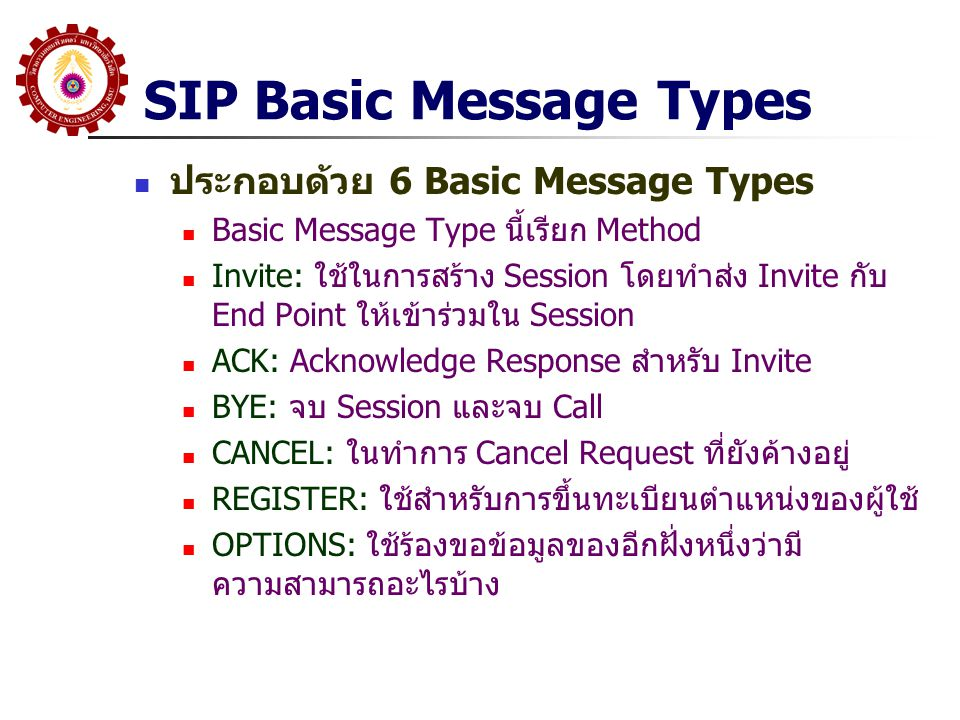SIP Basic Message Types