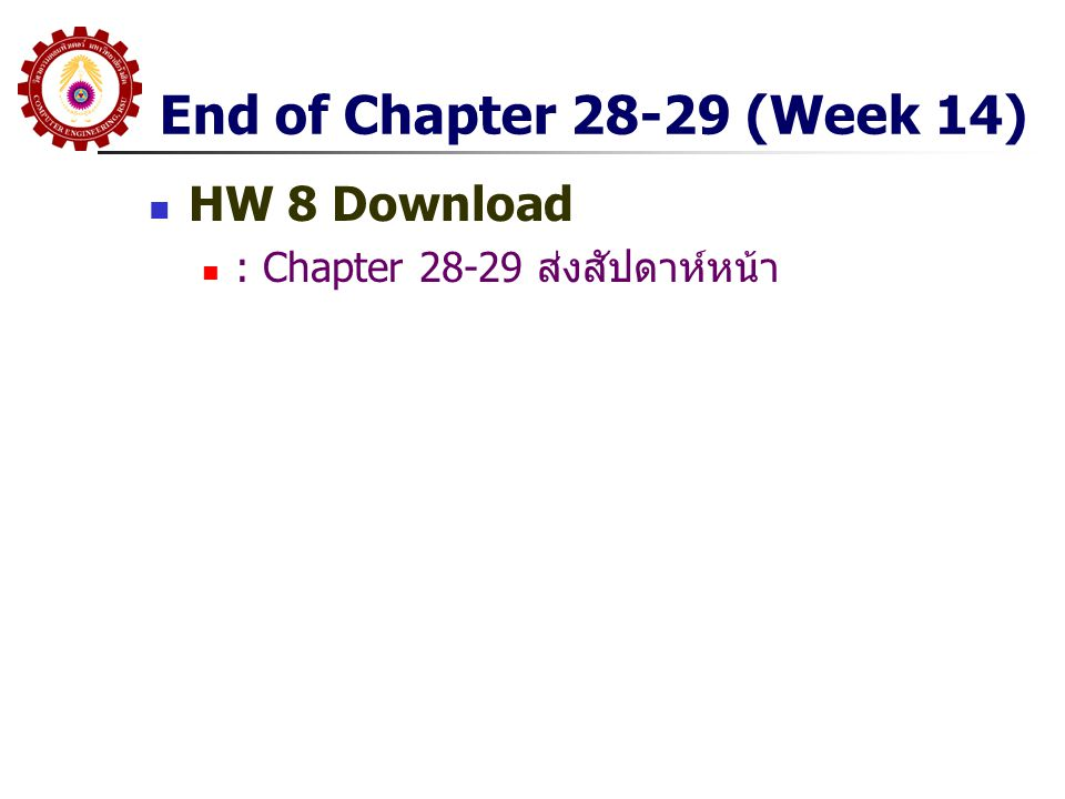 End of Chapter 28-29 (Week 14) HW 8 Download