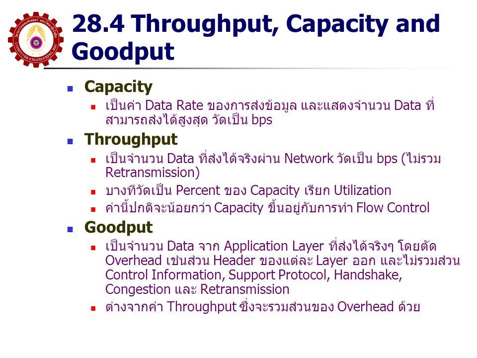 28.4 Throughput, Capacity and Goodput
