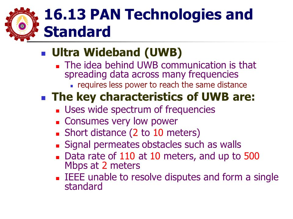 16.13 PAN Technologies and Standard