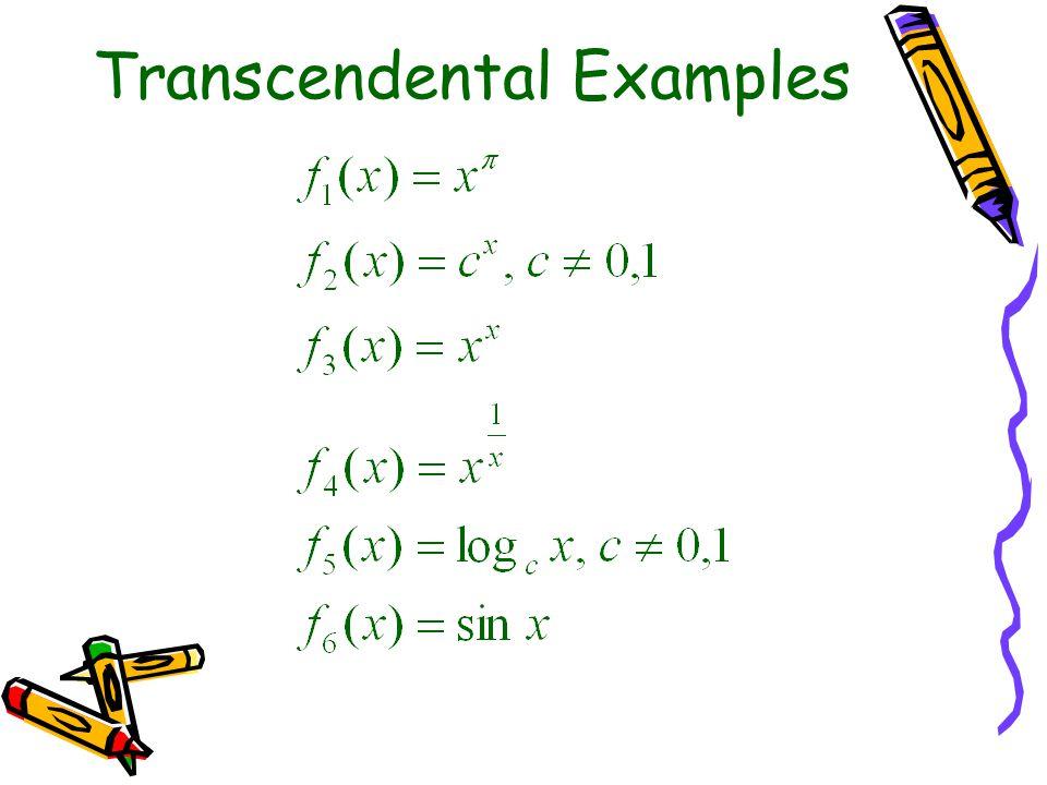 Transcendental Examples