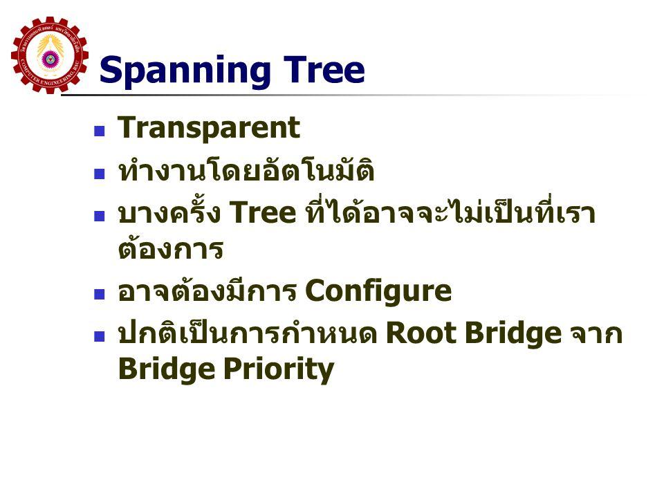 Spanning Tree Transparent ทำงานโดยอัตโนมัติ