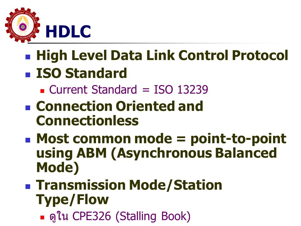 HDLC High Level Data Link Control Protocol ISO Standard