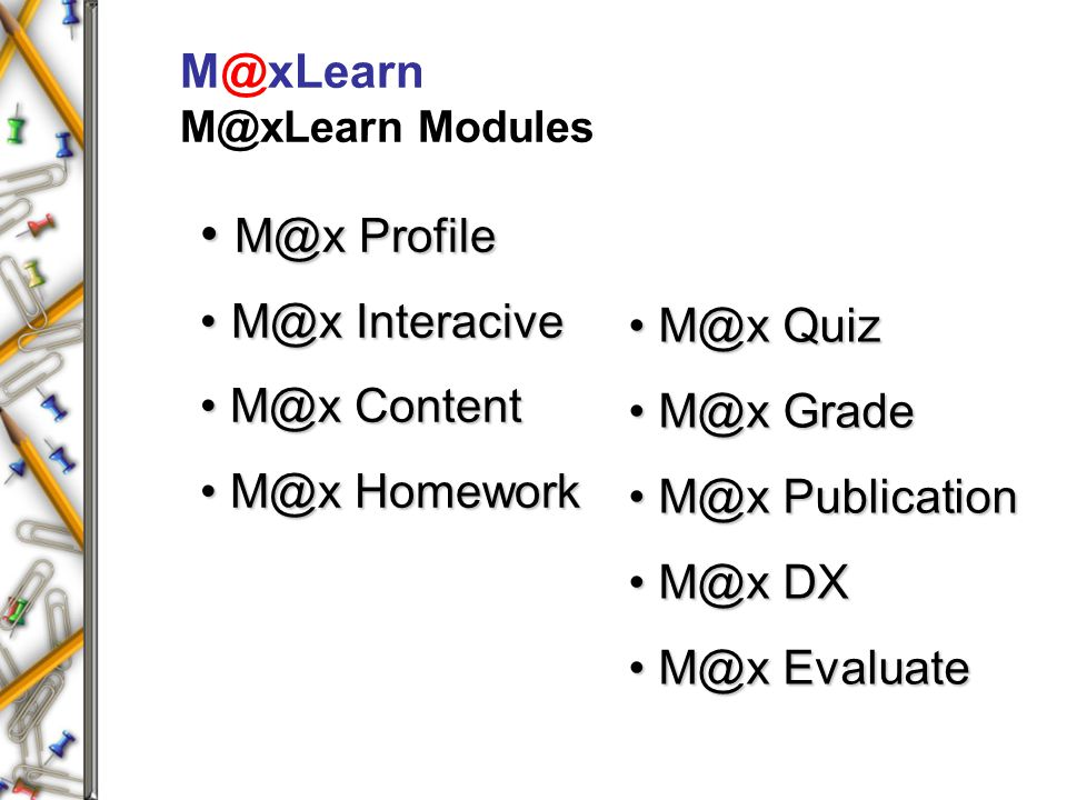 M@xLearn M@xLearn Modules