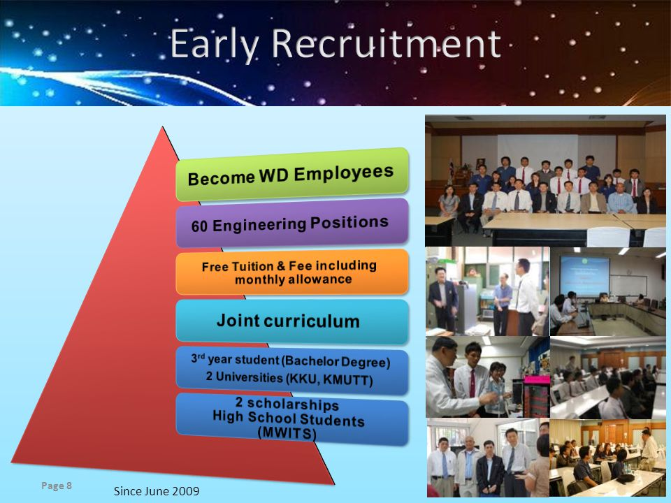 Early Recruitment Become WD Employees Joint curriculum
