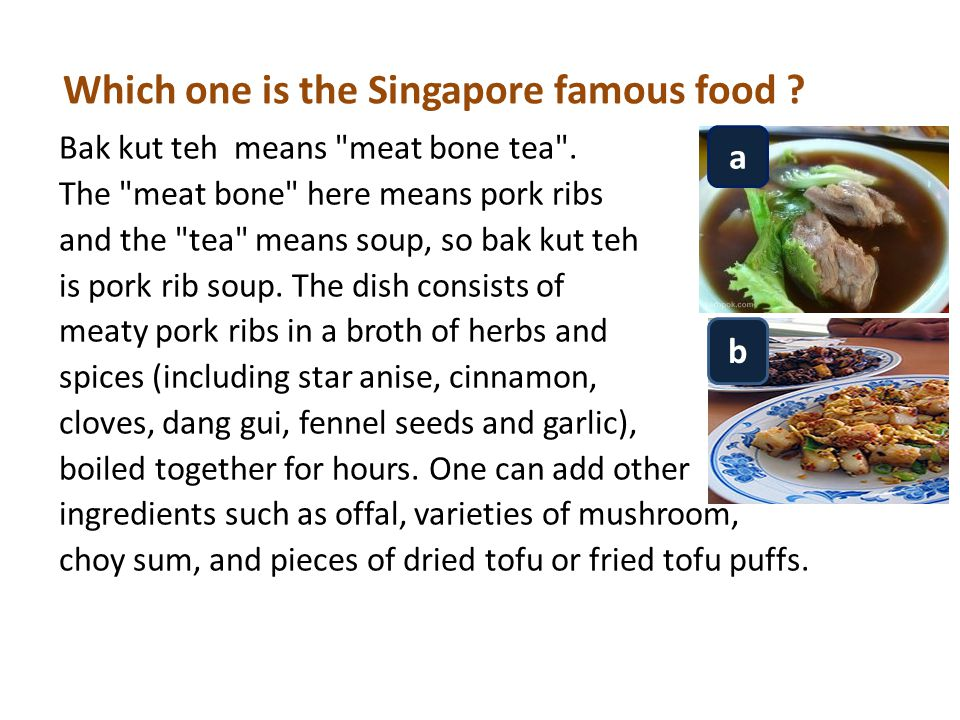 Which one is the Singapore famous food