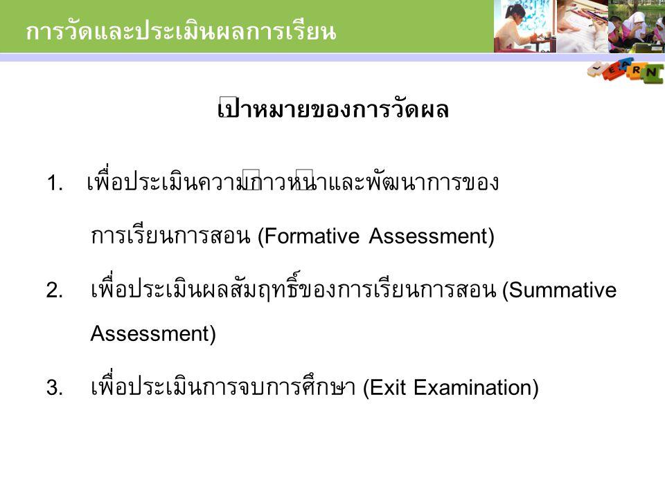 การวัดและประเมินผลการเรียน