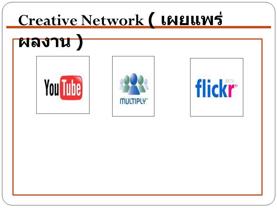 Creative Network ( เผยแพร่ผลงาน )