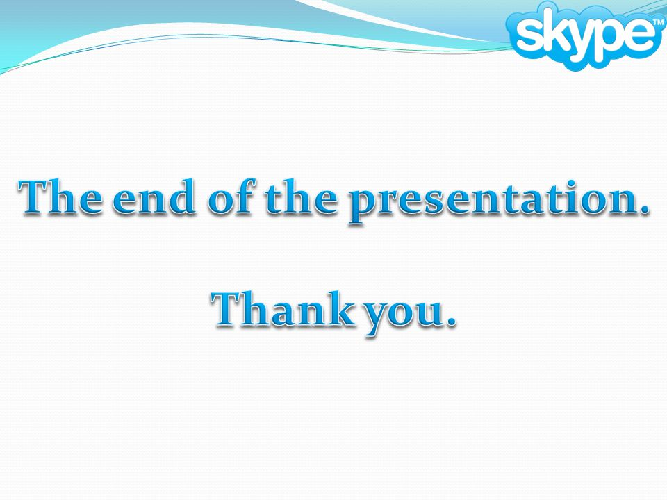 The end of the presentation.